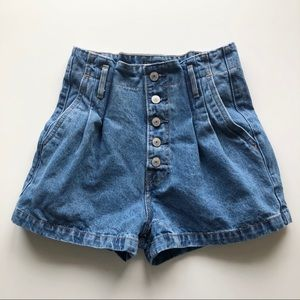 Abercrombie & Fitch Paperbag High Waisted Shorts